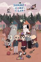 În front, playing at xilofon, Alien, Unicorn, Lucy (reading a book), Oscar Peltzer, Max (with hat), Oliver at piano, back - Blanche with horns, grey Mortimer, white with spots Ava, with glasses Howard, in the air - Alien, Saxophone hiding in the woods, witch Susie