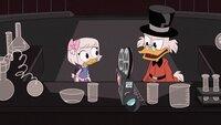 L-R: Webby Vanderquack, Scrooge McDuck