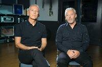"""Curt Smith (li.) und Roland Orzabal (re.) von Tears for Fears erinnern sich 35 Jahre später an ein Album zurück, das stellvertretend für den Sound der 80er Jahre war: """"""""Songs From The Big Chair"""""""" war das Kultalbum der New-Wave-Szene schlechthin."""