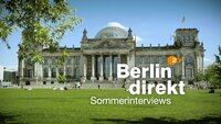 "Logo: ""Berlin direkt - Sommerinterview""."