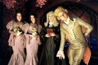 Jennifer Coolidge, Jane Adams, Catherine O'Hara (Richterin Strauss), Jim Carrey (Graf Olaf).