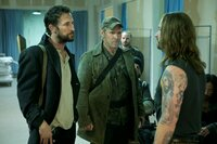 L-R: Tom Mason (Noah Wyle), Captain Weaver (Will Patton), John Pope (Colin Cunningham)