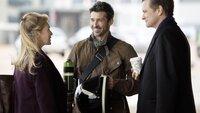 Mark (Colin Firth, r.) und Jack (Patrick Dempsey) könnten beide der Vater von Bridgets (Renée Zellweger) Baby sein. Der Kampf um die immer runder werdende Bridget beginnt...