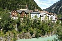 Das Dorf Göschenen am Fuß des Gotthard-Passes.