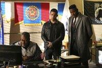 L-R: Tom Moore (Jaymes Butler); Torres (Wilmer Valderrama), Reeves (Duane Henry)