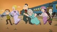 L-R: Steve, Francine, Stan, Aunt Karen, Hayley, Roger