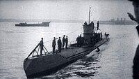 Deutsches U-Boot im Zweiten Weltkrieg.