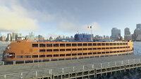 An Bord der Staten-Island-Fähren gibt es Platz für mehrere tausend Passagiere, verteilt auf mehrere Decks.