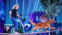 """Myriam mit ihrem Golden Retriever """"Lucy"""" in Runde 1."""
