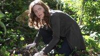 Die Ermittlungen um eine Leiche, die in einem Auto gefunden wurde, führt die Polizei zu Senator Corman. In seinem Garten findet Dr. Brennan (Emily Deschanel) dann auch noch eine zweite Leiche. Das bringt den Gartenbesitzer in arge Erklärungsnöte...