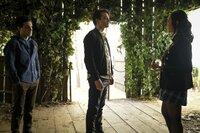 (v.l.n.r.) Landon Kirby (Aria Shahghasemi); Sebastian (Thomas Doherty); Alyssa Chang (Olivia Liang)