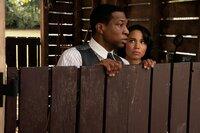 L-R: Atticus Freeman (Jonathan Majors) and Letitia 'Leti' Lewis (Jurnee Smollett)