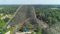 """Mit einer Höhe von 60 Metern gilt """"Colossos"""" als Europas höchste Holzachterbahn."""