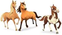 Chica Linda, Spirit und Boomerang (v.l.) sind auf dem besten Wege, richtig gute Freunde zu werden. Die drei Pferde erleben mit ihren Besitzerinnen spannende Abenteuer.
