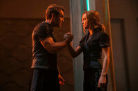 Captain Marvel Jude Law als Yon-Rogg, Brie Larson als Vers/Captain Marvel SRF/2019 MARVEL