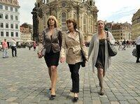 Steffi Krieg (Mona Seefried), Maria Lieblich (Thekla Carola Wied, Mitte) und Carola Bleibtreu (Katerina Jacob, rechts) sind ein eingespieltes Team.