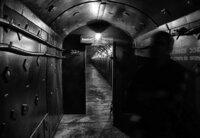 Im ehemaligen geheimen Leitstand für Atomraketen mitten in Moskau. Verbindungstunnel der Hauptröhren.
