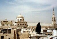 Die Altstadt von Damaskus mit der Omajjadenmoschee (Grab Johannes des Täufers).
