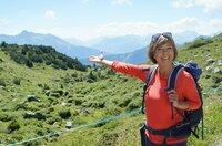 """SWR Fernsehen EXPEDITION IN DIE HEIMAT, """"Von Hütte zu Hütte"""", am Freitag (11.09.20) um 20:15 Uhr. Annette Krause ist in den Bergen unterwegs"""