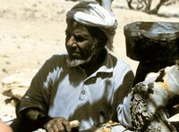 Beduine bei der Weihrauchernte.