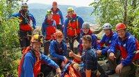 Moderator Ramon Babazadeh besucht die Bergwacht Baden-Baden bei einer Rettungsu?bung in den Battertfelsen.