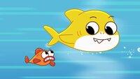 l-r: William the fish, Baby Shark