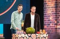 Ulrich Glemnitz und Mario Binder mit dem Patty Bunte Burger Boom Jack BBQ