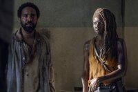 Michonne (Danai Gurira) hat Virgil (Kevin Carroll) auf seine Insel begleitet und stößt dort auf einen unerwarteten Hinweis..