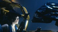 Astronautin Ellen Ripley (Sigourney Weaver) im Kampf gegen ein blutrünstiges Alien...