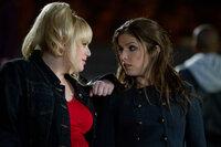 """Fat Amy (Rebel Wilson, l.) hält einen guten Rat für Beca (Anna Kendrick, r.) bereit, aber wird dieser wirklich helfen, die angespannte Stimmung mit den """"Barden Ballas"""" und vor allem mit Aubrey zu lösen?"""