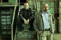 Jesse Pinkman (Aaron Paul) and Walter White (Bryan Cranston) - Breaking Bad - Gallery - Photo Credit: Frank Ockenfels/AMC