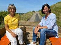 Annette Krause mit Conny Lehr vom Jakobshof in Bad Mergentheim/ Markelsheim.