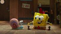 L-R: Gary, SpongeBob