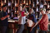 V.l.: Jake (Ken Marino), Daniel (Jerry O'Connell), Matthew (Brandon Johnson), Gut Boy (Steve Little)