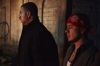 Kim's kidnappers Nick (Justin Bigelli, r.) And Jose (Sebastian Cordoba, l.)