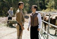 "L-R: Malcolm ""Mal"" Reynolds (Nathan Fillion) and  Dr. Simon Tam (Sean Maher)"