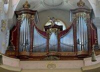 Die Kirchenorgel von St. Peter in München.