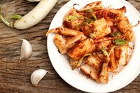 Daikon radishes kimchi korean food