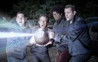 Mit einer Wunderwaffe gegen mörderische Aliens, die ihr Städtchen und sogar die ganze Welt bedrohen: (v.l.n.r.) Franklin (Jonah Hill), Evan (Ben Stiller), Jamarcus (Richard Ayoade) und Bob (Vince Vaughn) ...