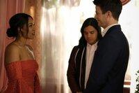 (v.l.n.r.) Iris West-Allen (Candice Patton); Cisco Ramon (Carlos Valdes); Barry Allen (Grant Gustin)