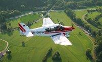 Rundflug mit Hagelfliegerin Julia Rexroth vom Luftsportverein Degerfeld.