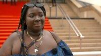 Nafi-Sarah auf dem Roten Teppich bei den Filmfestspielen in Cannes.