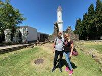 Montevideo in Uruguay. Die Passagiere Christine und Christian Schorer schauen sich heute Colonia del Sacramento, die älteste Stadt Uruguays, an.