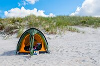 Camping on the Baltic sea beach