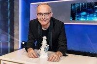 Moderator Christoph Süß beim Bayerischen Fernsehpreis 2021.