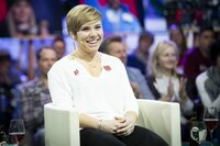 Nicole Schmidhofer during Servus TV's Sport and Talk at the Hangar-7 in Salzburg, Austria on 11th of February 2019