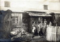 Ehemaliges Flüchtlingslager von Gmünd um 1920.