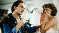 Zwischen Chris (Mick Werup, l.) und Tina (Marion Kracht, r.) kommt es zu einer Machtprobe, die mit einer Ohrfeige endet.
