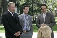 L-R: Captain Leland Stottlemeyer (Ted Levine), Lt. Randall Disher (Jason Gray-Stanford), Monk (Tony Shalhoub)