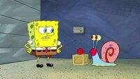 L-R: SpongeBob, Gary